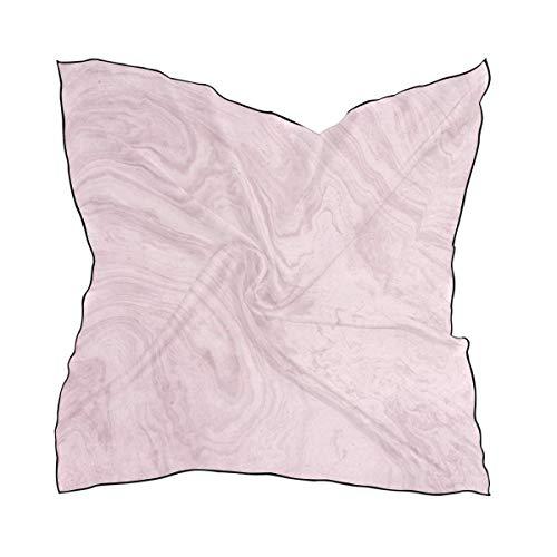 Dama De Elegante Nasa Kostüm - Pink Marble Big Square Scarves Head Wrap Women Shawl Wrap Silks Material