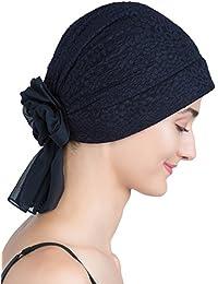 Brokat-Kopfbedeckung Mit Georgette Bogenknoten für Haarverlust