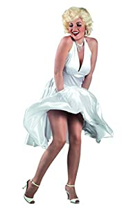 BOLAND 83850-Adultos Disfraz Hollywood, color blanco, talla M