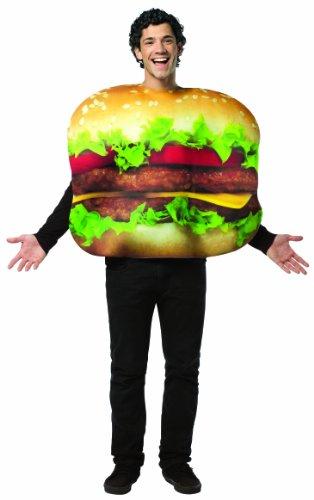 Hamburger Cheesburger Kostüm in Einheitsgröße Fasching Karneval (Erwachsene Cheeseburger Kostüme)