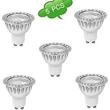 5pcs duxlite 10w GU10 regulable (= 90w halógeno) 1xcob 810lm 6000k luz blanca fría llevó el bulbo (ac 220-240v) ( Color de Luz : Blanco Frío )