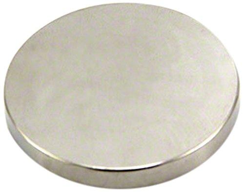 Magnet Expert® F360-1 40mm dia x 5mm d'épaisseur - aimant néodyme n42-16,3 kg d'attraction (paquet de 1), Argent