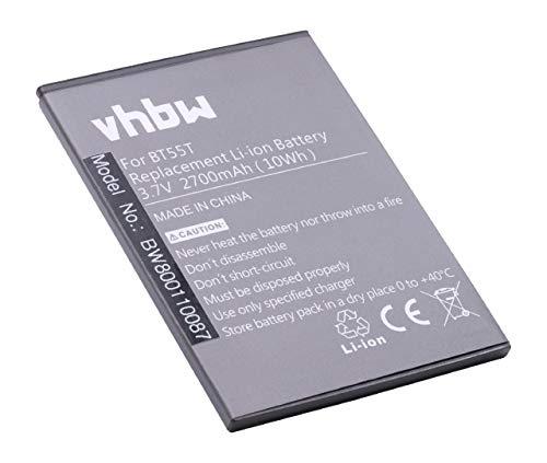 vhbw Li-Ion batería 2700mAh (3.8V) para Smartphone, teléfono móvil Zopo 3X, 9530, ZP998, ZP999 por BT55T.