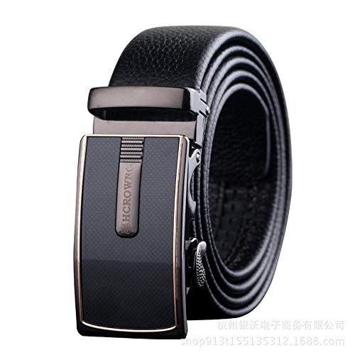 a401f1b473ef ChenHui Mans Leather Belt Auto Boucle Ceinture Hommes d Affaires tête en  Cuir Ceinture Souple