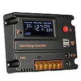 SM SunniMix 10A / 20A Laderegler 12V / 24V PWM mit Dual USB für Camper/Wohnwagen / Boot, Automatische Erkennung - 20A