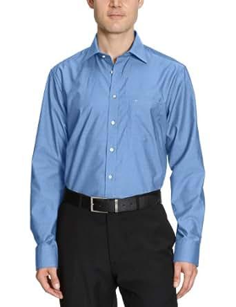 Seidensticker Herren Hemd/ Business 3000, Gr. 40 CM (M), Blau (14 mittelblau)