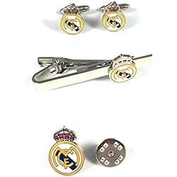 PACK Pasador de Corbata, PIN y Gemelos Real Madrid