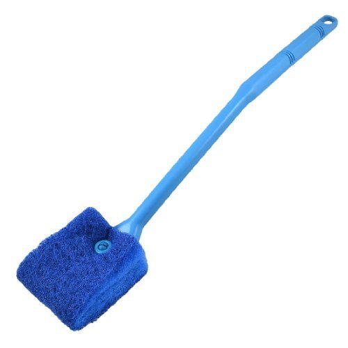 Water & Wood Aquarium Fish Tank Double Sided Sponge Cleaning Brush Cleaner Scrubber Yale Blue -