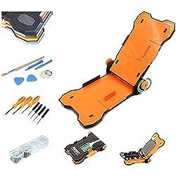 """Baker Support de réparation d'écran fixe 15 en 1, outil de démontage à pince pour téléphone portable 4,5-5,5"""", réglable, pour iPhone 7, 6S, 6 Plus, avec outils de réparation et kit de tournevis"""