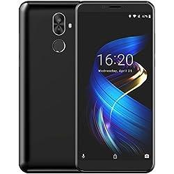VicTsing CUBOT X18 Plus 4GB + 64GB, Smartphone Libre de 5.99'' FHD (4G, Andriod 8.0, Dual SIM, Cámaras 20MP+13MP+2MP, Gran Batería 4000 mAh, Negro