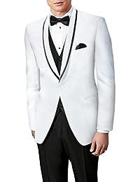 Suit Me Slim Fit Hombres de 3 piezas trajes de etiqueta partido traje de baile de graduaci¨®n chaquetas Blazers Pantalones