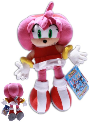 Amy Rose 12'' Plush Toy Doll Sonic X Girlfiend Rascal Video Game Pink Female Sega Soft