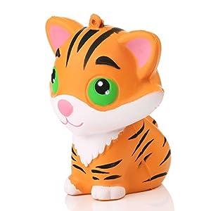 beautijiam Slow Rising Spielzeug, Niedliche Simuliert Tiger Form Squeeze Spielzeug Dekompression Spielzeug Stress Relief Geschenk für Kinder Erwachsene