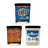 Mix creme spalmabili, 3 barattoli di Twix, Bounty, M&M'S Chocolate Spread 3 x 200 gr