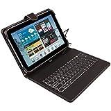 Silver -  Funda universal con teclado para tablet de 9'' - 10.1'', color negro