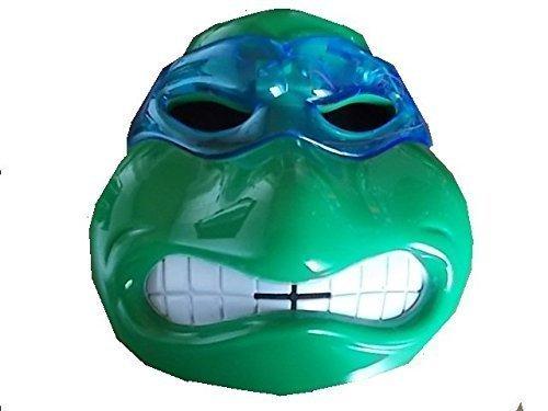 (Neue Turle Ninja Maske (blauer Schleier Leonardo) mit LED Beleuchtung für Kinder)
