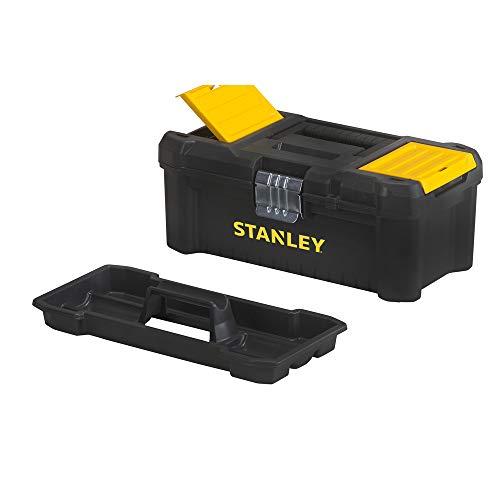 """Stanley Werkzeugbox / Werkzeugkoffer (12.5\"""", 32x18.8x13.2cm, Werkzeugkasten mit Metallschließen, Organizer für Kleinteile und Zubehör, entnehmbare Trage) STST1-75515"""