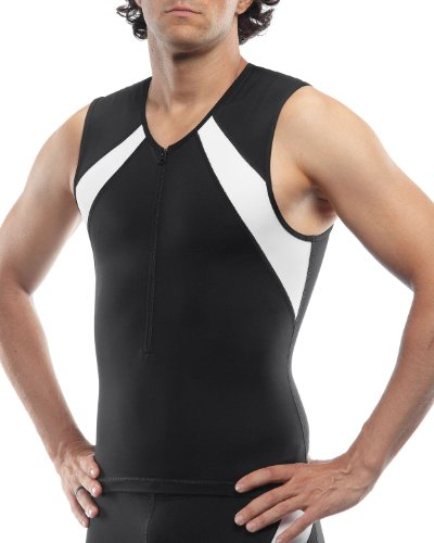 SLS3 FRT 2.0Race Top, Herren, Raven Black/Icy White, Small (Brust-komprimierung-shirts)