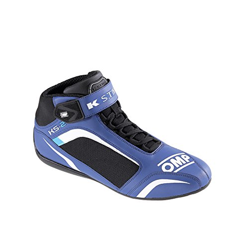 ic/812KS-2KS2Kart Omp Karting Bottes Tissu en microfibre en 4couleurs toutes les tailles, Femme Homme, noir, 36 (UK 3.5) Bleu/Blanc