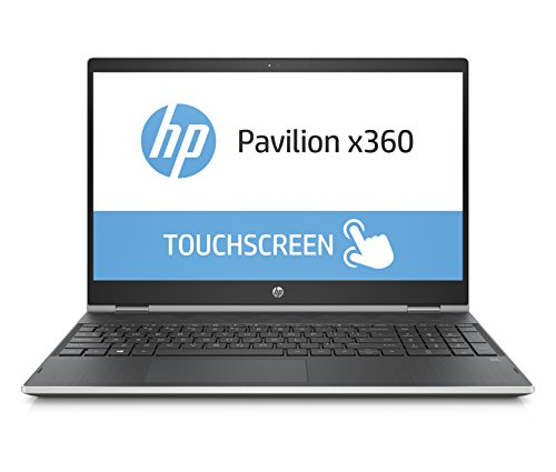 HP Pavilion x360 15-cr0001ng 39,56 cm (15,6 Zoll HD) Convertible Notebook (Intel Pentium gold 4415u, 8GB RAM, 1TB HDD, Intel HD Grafik, Windows 10 Home) schwarz/silber