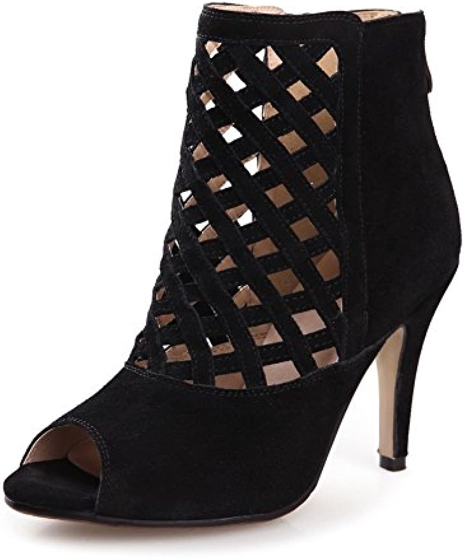 Señoras Summer Sandals High Heels, Blanco 42 -