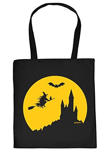 Stofftasche/Einkaustasche/Spaß-Motiv-Tasche Thema Halloween: Halloween Hexe - Geschenkidee (Thema Von Halloween)
