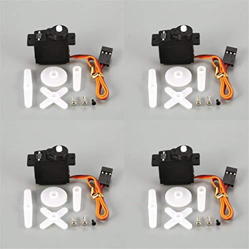 LouiseEvel215 4 STÜCKE Kunststoff Getriebe 4,8 V-6 V 1,89 KG Großes Drehmoment Analog Servo Für 1/18 RC Auto Heli Boot Ersatzteile Zubehör