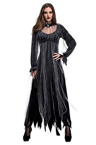 Smileshop Horror Geister Braut Kostüm Zombie Braut Halloween Damen Kostüm Chucky Halloweenkostüm Damenkostüm XL