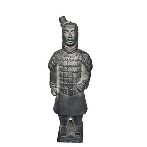 Terra Cotta Top (Terracotta Warriors, China, Qin Dynasty Terra Cotta Warriors Skulptur Home Display Tisch Geschenk Multi Präsentation 22,4 cm hoch, Soldier)