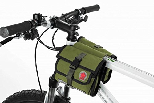 Tofern Waterproof canvas bicycle cycling frame bag...