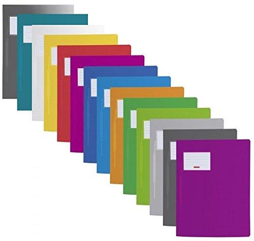 Brunnen 102015000 | 14 Schnellhefter FACT!pp (A4, aus transluzentem PP, mit Namensschild, mit Einstecktasche innen) (14 Farben | Komplettset)