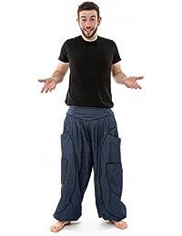 - Sarouel baggy aladin blue jean et coton noir homme femme -