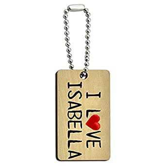 Graphics and More I Love Ice Cream Written on Paper Wood Wooden Rectangle Key Chain