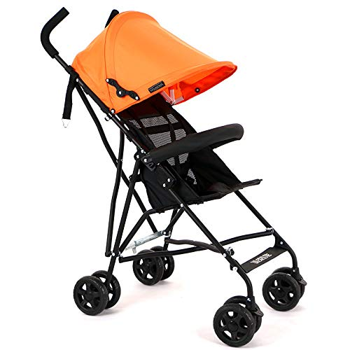 Kinderwagen Taschenschirm Ultra Light Portable Small Voll Markise Kinderwagen Kinderwagen Kinderwagen Orange