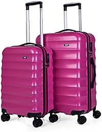 JASLEN - Set de 2 trolleys ABS con TSA Fashion Colors