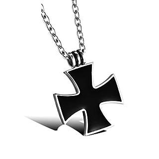 Aituo Titan Stahl Herren Halskette, sehr cool, markieren Sie Ihre Persönlichkeit (Großes Kreuz)