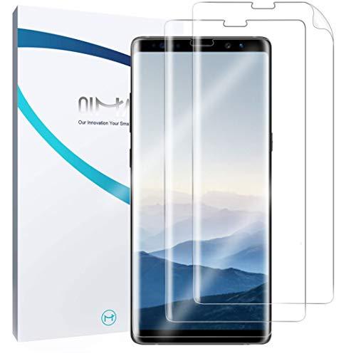 QiMai 3X Full Screen Cover Schutzfolie für Galaxy Note 8 Nano-TPU Displayschutzfolie Hülle Freundliche Abdeckung Panzerfolie, Guide Tool Kinderleicht anbringen