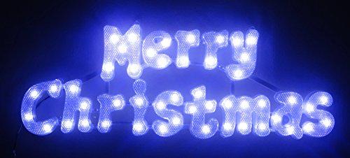 Christmas Concepts® 49cm Weiß Leuchten LED Frohe Weihnachten Zeichen - Weihnachtsdekoration