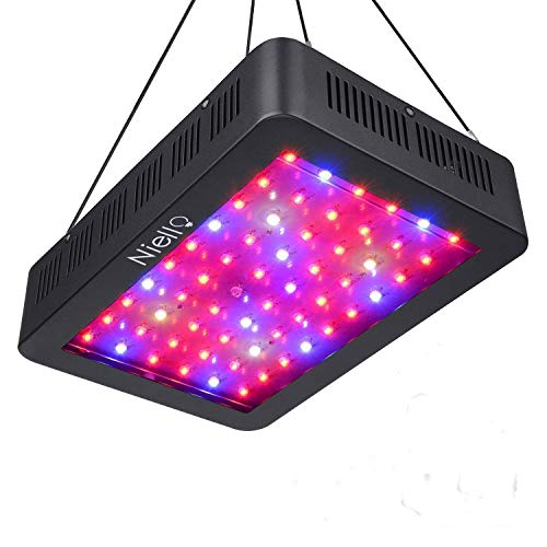 Niello 600W LED Pflanzenlampe Doppel-10W-Chips LED Grow Light Vollem Spektrum LED Wachstumslicht 60 LEDs Pflanzenlicht Grow Lamp mit UV & IR und mit Rope Hanger für Zimmerpflanzen,Gemüse und Blumen -
