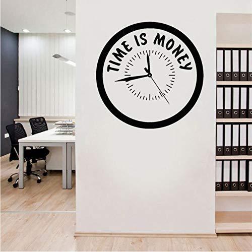 (Fushoulu 42X42 CmInspiration Zitat Zeit Ist Geld Aufkleber Clock-Styling Vinyl Aufkleber Für Office Motivation Murals Einzigartiges Geschenk)