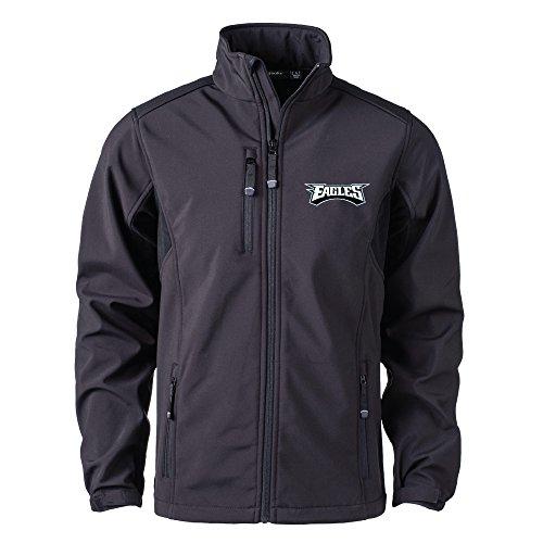 Dunbrooke Apparel Herren Softshelljacke NFL Philadelphia Eagles, Schwarz, XL -