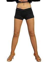 G4101 danza latina y moderna profesional pantalones cortos universales proporcionada por GloriaDance (black, free-size)