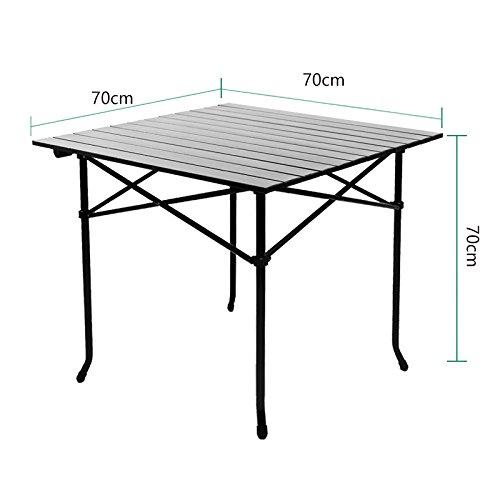 Xing Lin Table Pliable Dream Garden Outdoor Table Pliante En Aluminium Portable Barbecue Pique-Nique Camping Voiture Voyager Léger Décrochage, Table 70Cm Longueur × Largeur × Hauteur 70Cm 70Cm