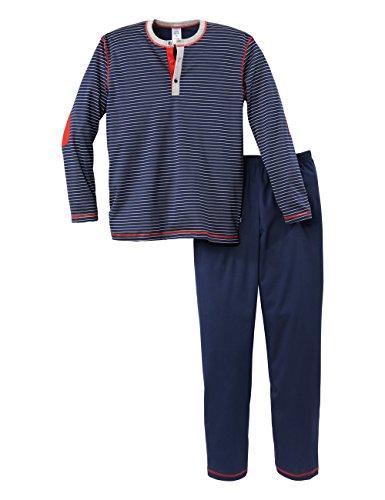 Calida Jungen Cool College Knaben Pyjama Zweiteiliger Schlafanzug, Blau (Dark Blue 449), 140