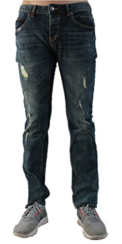 Blue Monkey Herren Jeans Jim 2021 - SLIM - Blau