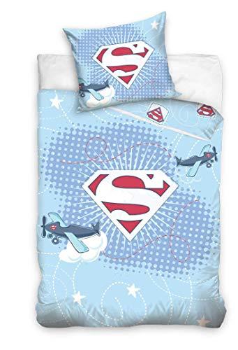 Superboy Bettwäsche, Babybettwäsche; blau; Bettbezug: 100 cm x 135 cm, Kopfkissenbezug: 40 cm x 60 cm; 100{c55f0dfa81a3232677f83fde7d5683e51f8b3d2dfc590196e103b24f320303cb} Baumwolle; Superman, Kinderbettwäsche, Wendebettwäsche