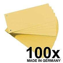 Original Falken Pack of 100 Cardboard Separating Strips. Made in Germany. Standard Yellow