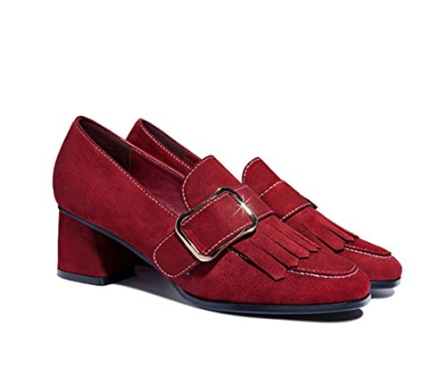 XTIAN - Pantofole Donna Wine Red Weinrot