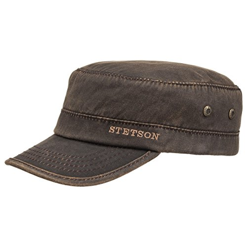 datto-winter-army-cap-stetson-army-cap-army-hat-xl-60-61-brown