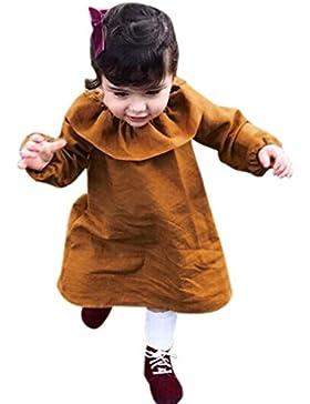 OverDose Baby Mädchen Herbst Winter Kleidung Langarm Rüschen Pageant Party Prinzessin Kleid Mini Kleider